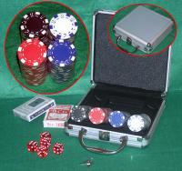 POKER SET 100 FICHES CHIPS  5 DADI VALIGIA ALLUMINIO